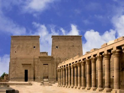 Kristof holidays tempel Isis Egypte